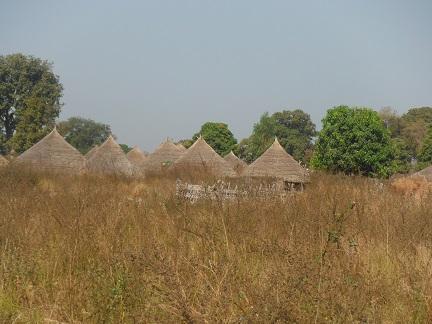 Traditioneel dorpje onderweg